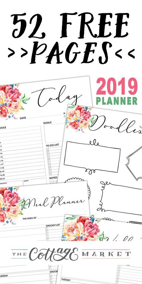 52 Page Free 2019 Planner