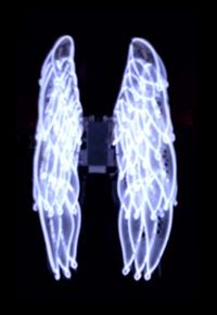 E L EL Wire Neon Burning Halloween Costume 5 foot ft complete kit ...