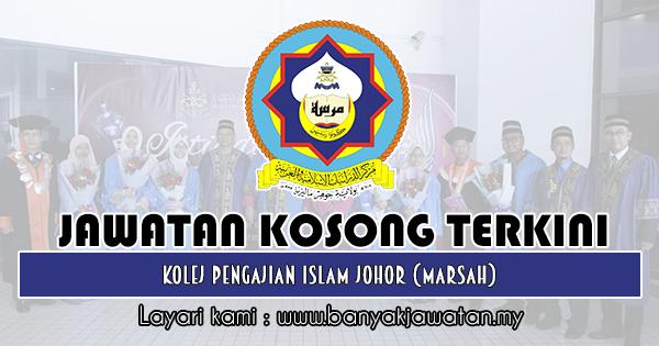 Jawatan Kosong Di Kolej Pengajian Islam Johor Marsah 21 Januari 2019 Islam Johor 21st