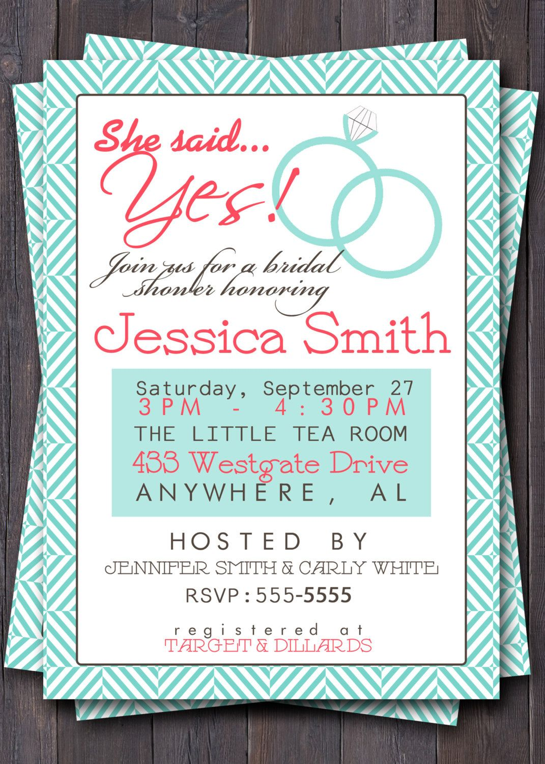 Brunch weddings wedding shower invitation invite bridal for Bridal shower invitation designs