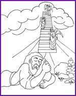 jacobs ladder coloring page kids korner biblewise