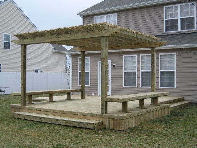 deck+pergolas | Deck with Pergola (4) - Deck+pergolas Deck With Pergola (4) Decks And Pergola