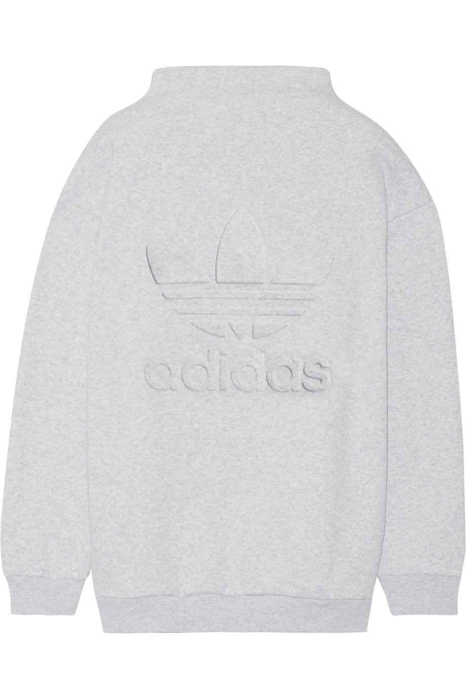 Adidas Originals Embossed Cotton Blend Fleece Sweatshirt Light Gray Cotton Blend Fleece Slips On 70 Cott Sweatshirts Sweatshirt Fleece Adidas Originals Women [ 1380 x 920 Pixel ]