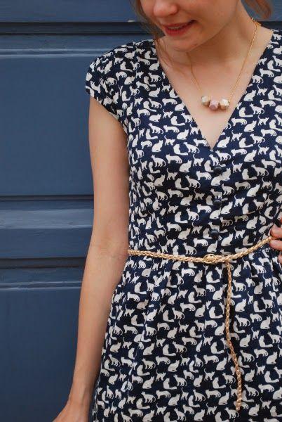 ce3542d16de7e8 Robe Marie - un été couture - détail encolure | naaldwerk | Tuto ...