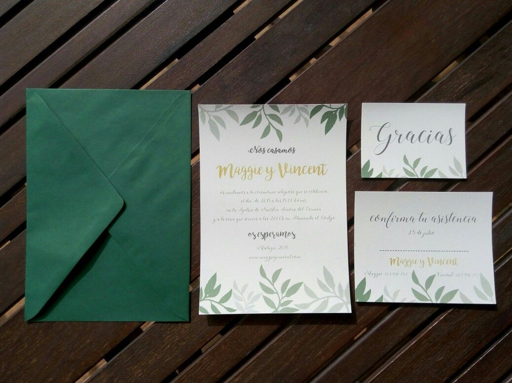 Invitaciones de boda y complementos