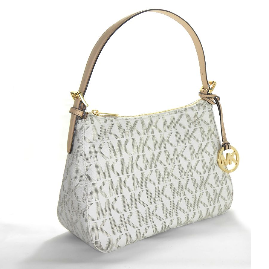 Bolsa Michael Kors Tote Vanilla : Michael kors jet set item pvc small shoulder bag vanilla