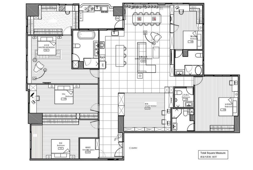 modern house map design