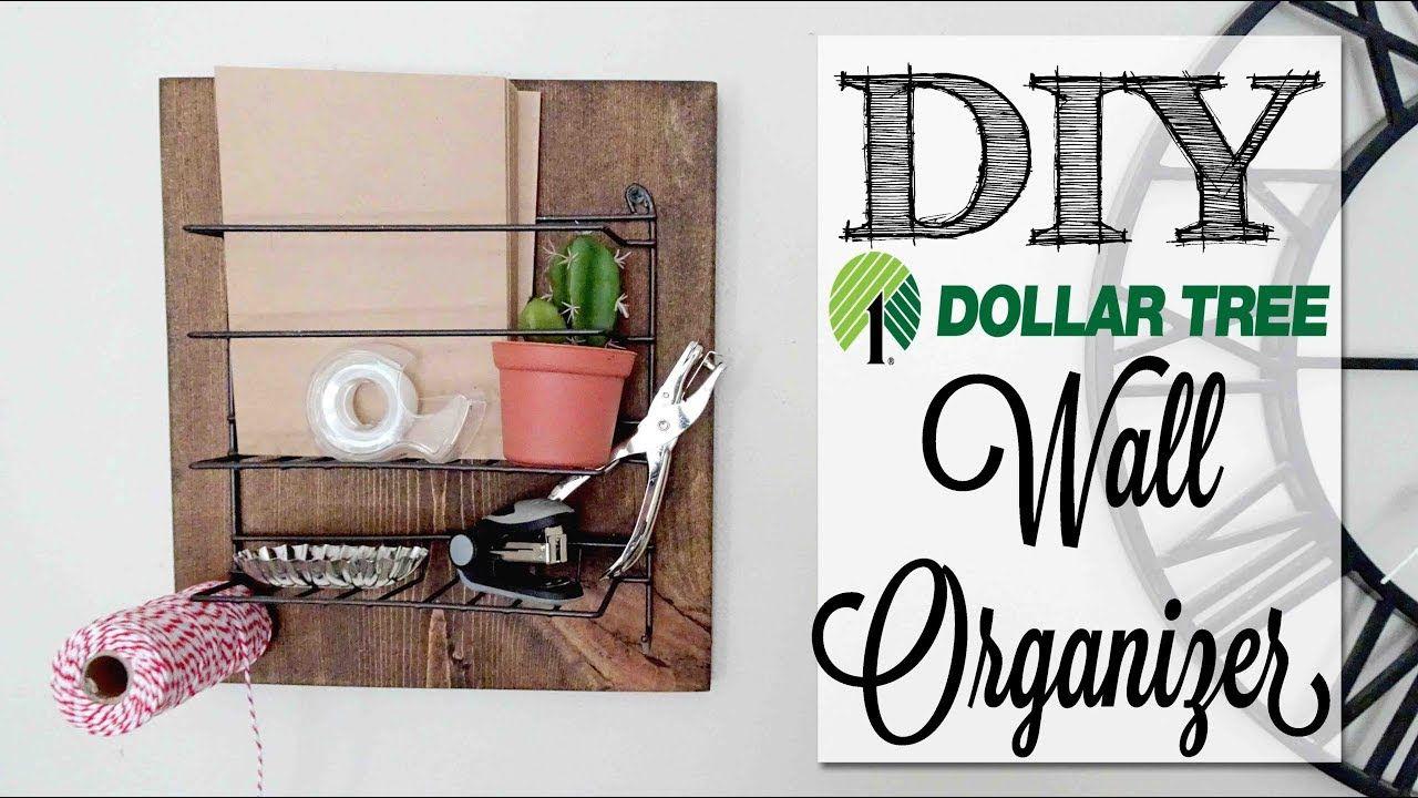 DIY Farmhouse Wall Organizer Dollar Tree Craft Dollar