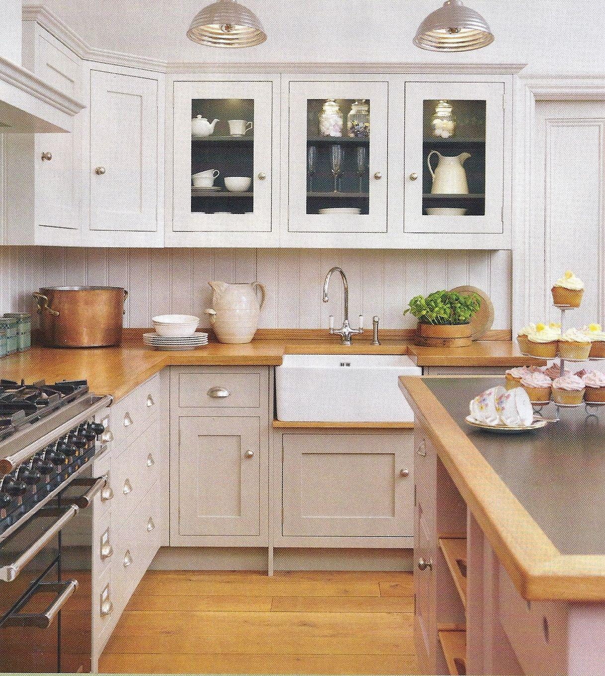 warm wood countertop | Kitchen cabinet styles, Kitchen ...