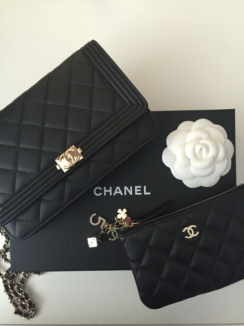 Chanel must have s! Boy WOC   O Case from Casino Collection with lucky  charms!  chanel  chanelWOC  chanelocase f79abaffbbdc3