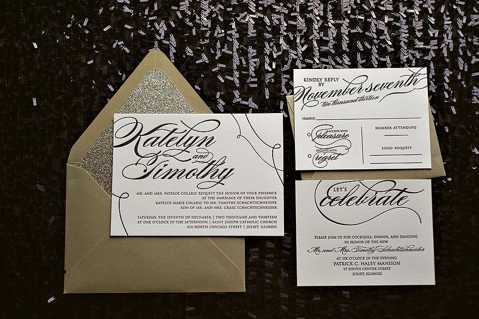 Gentil Black Tie Wedding Invitations, High End Wedding Invitations, Classic Wedding  Invitations, Black And White Invitations | Pinterest | Classic Weddings, ...