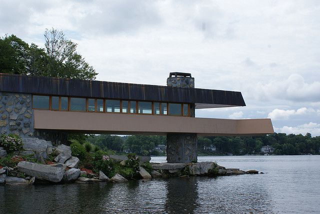 Frank Lloyd Wright's last house. Petra Island, Lake Mahopac, New York, USA