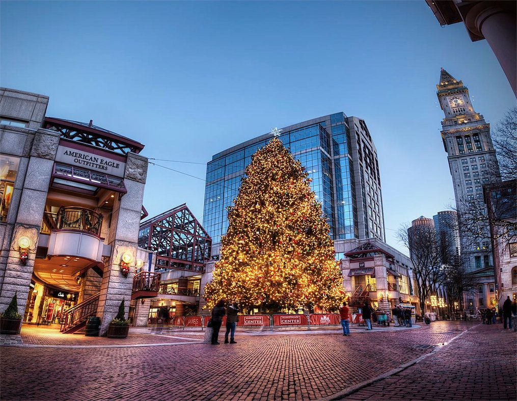 FaneuilHall2012 Christmas in boston, In boston, Hdr