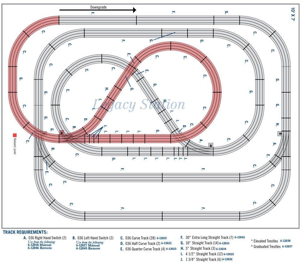 medium resolution of lionel trains fastrack the big climb layout