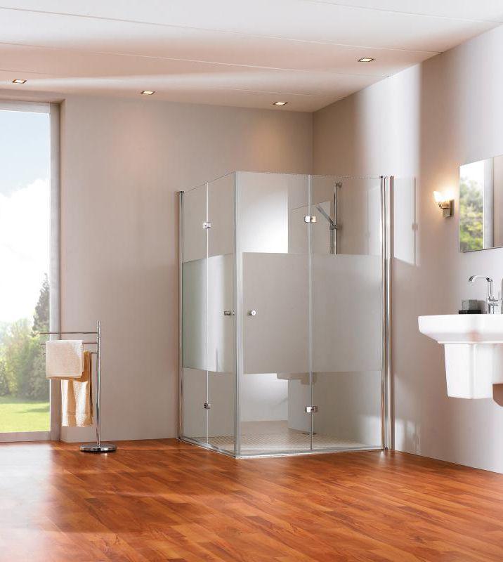 Fesselnd Hüppe 501 Design: Nutzen Sie Die Eigenschaften Von Glas Und Vergrößern Sie  Optisch Ihr Bad. Die Duschkabinenlösung Passt In Eine Nische Oder Ist Auu2026