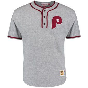 wholesale dealer 41755 f0cfc Men's Philadelphia Phillies Mitchell & Ness Gray 8th Inning ...