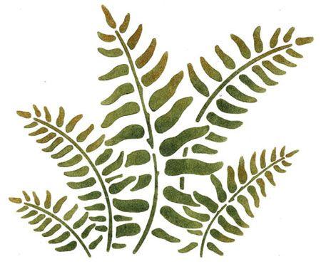 Stencils Border Fern Stencilease Com Stencils Wall Stencil Painting Leaf Stencil