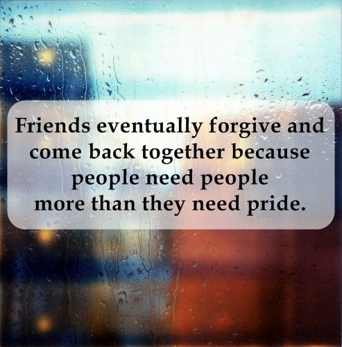 People Need People More Than We Need Pride.