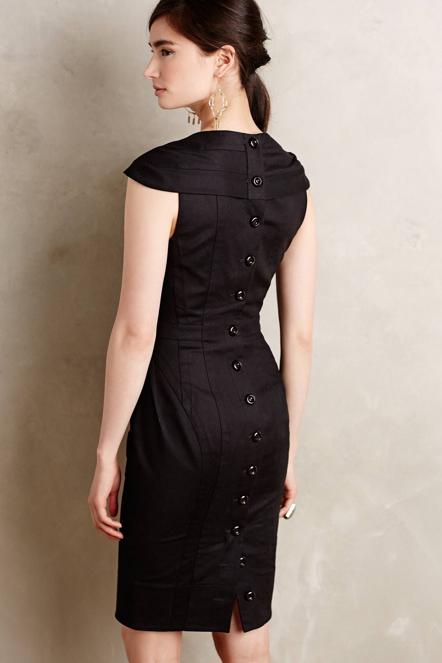 bcbc655d5c2d Buy Byron Lars Beauty Mark Women's Black Button-back Pencil Dress, starting  at $110. Similar products also available. SALE now on!