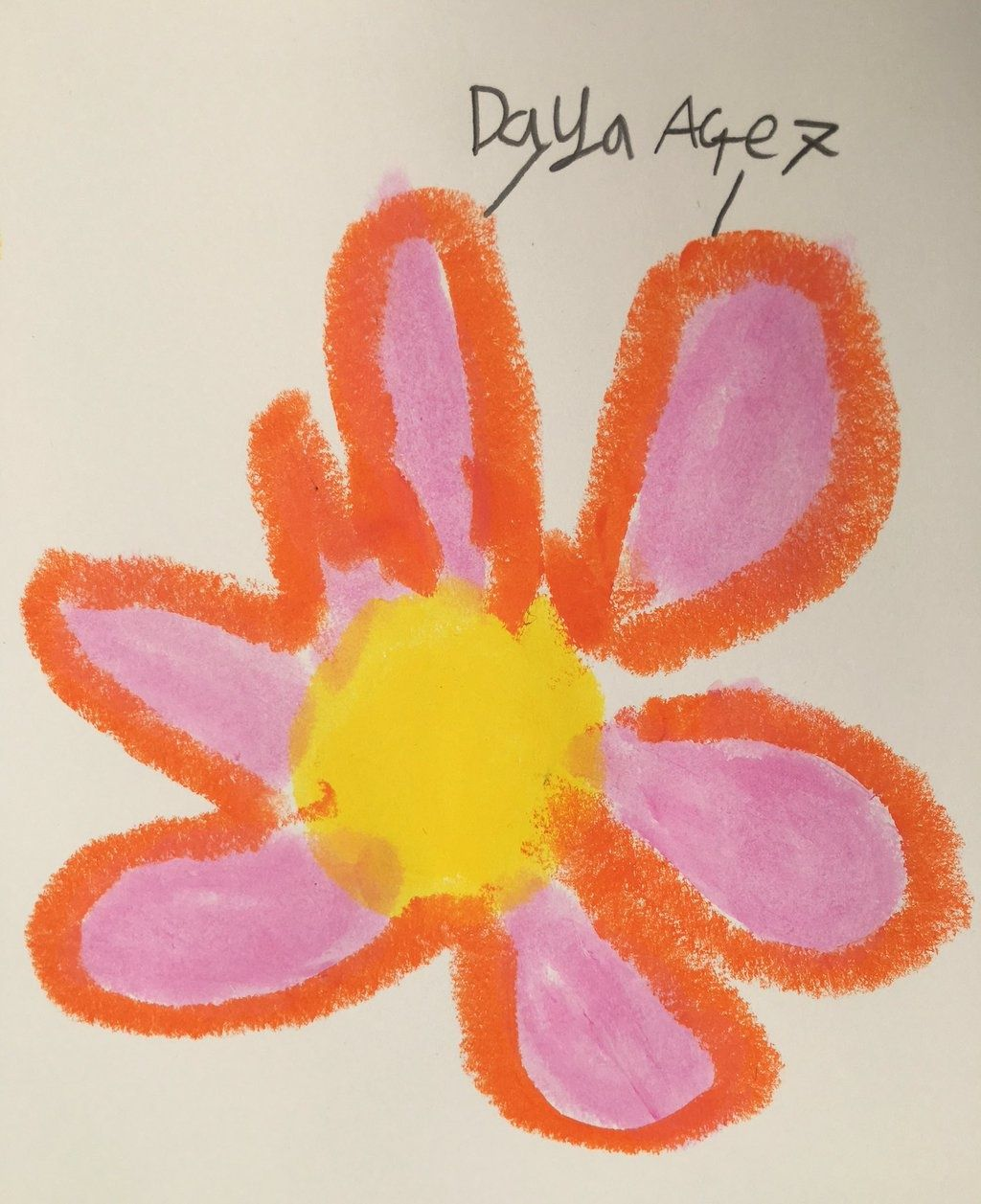 Big Thanks To Daya Age 7 For Her Great Picture Of A Flower With Paintsticks Painted Sticks Little Library Great Pictures