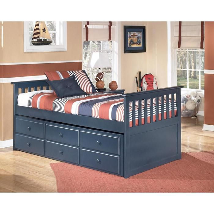 Twin Bed With Trundle Drawer Box