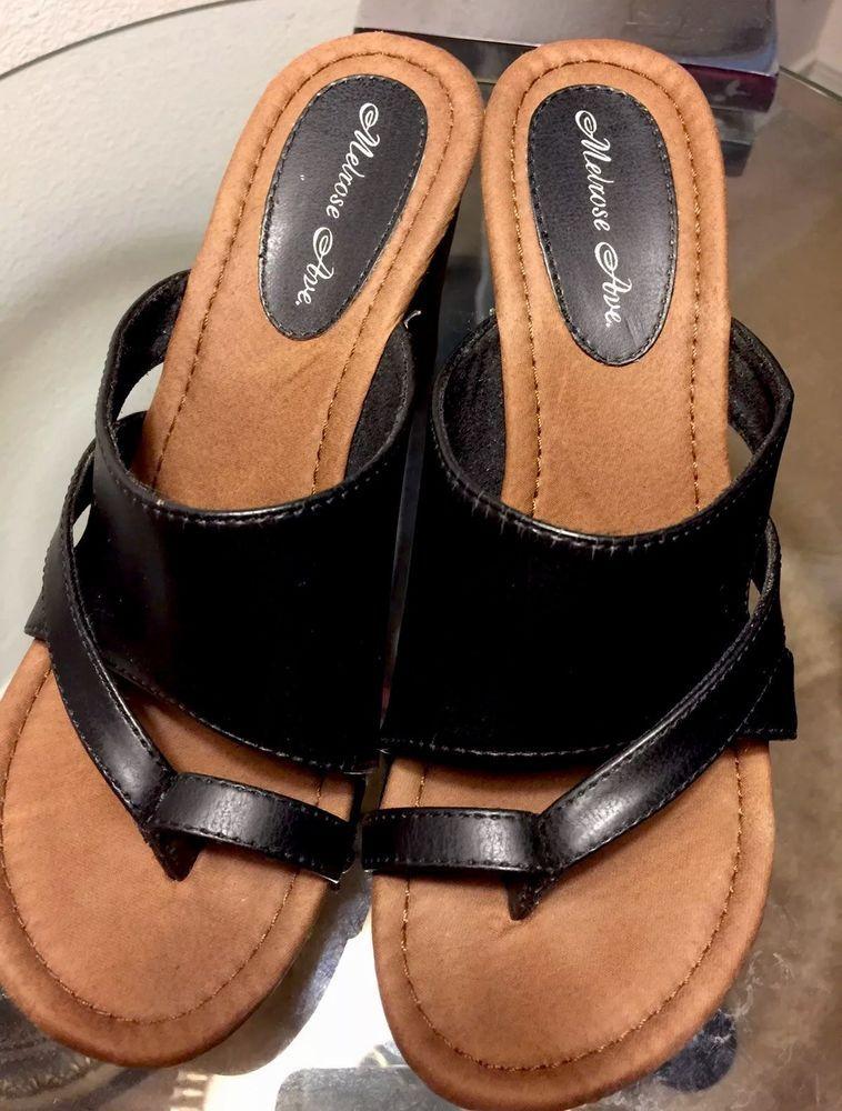 Womens Sandals Melrose Avenue Size 6 M 3 1 2 Heel Wedge Fashion