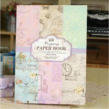 24 hoja de 12 diseño Vintage papel de envolver libro - 30 cm x 42 cm(China (Mainland))