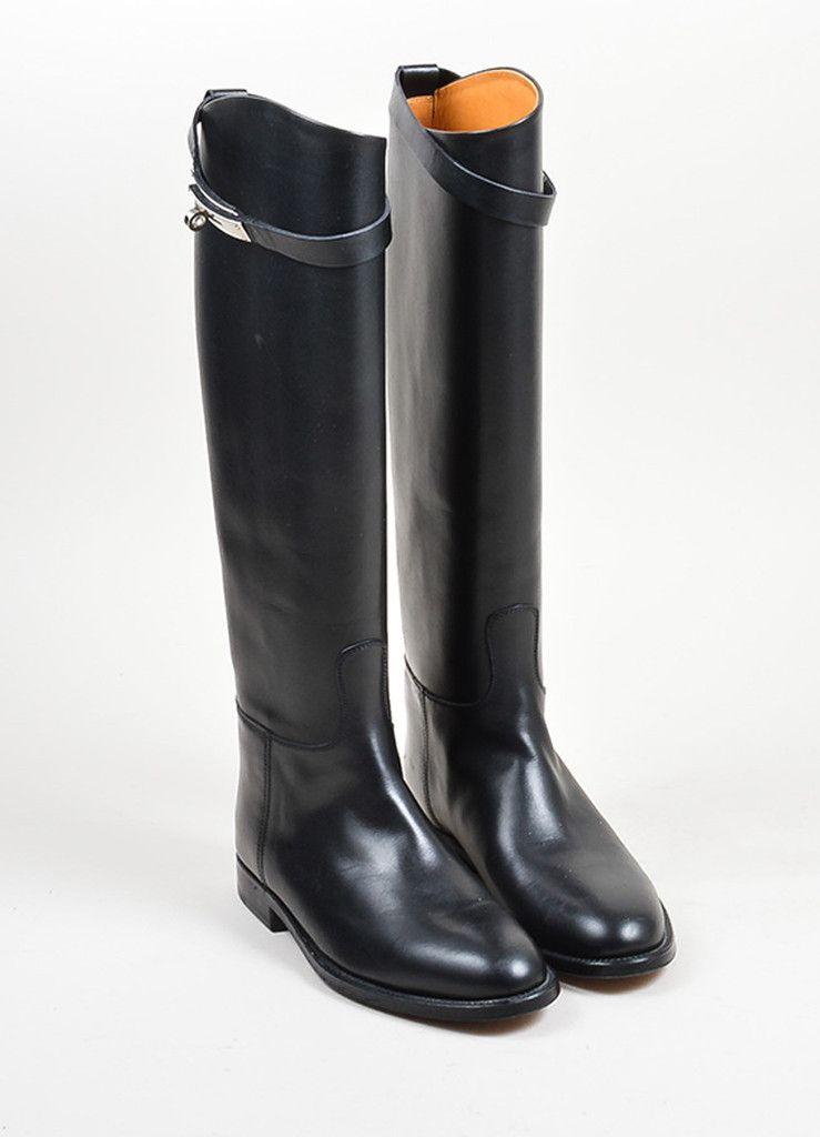 af2fbead4bc Black Leather Hermes