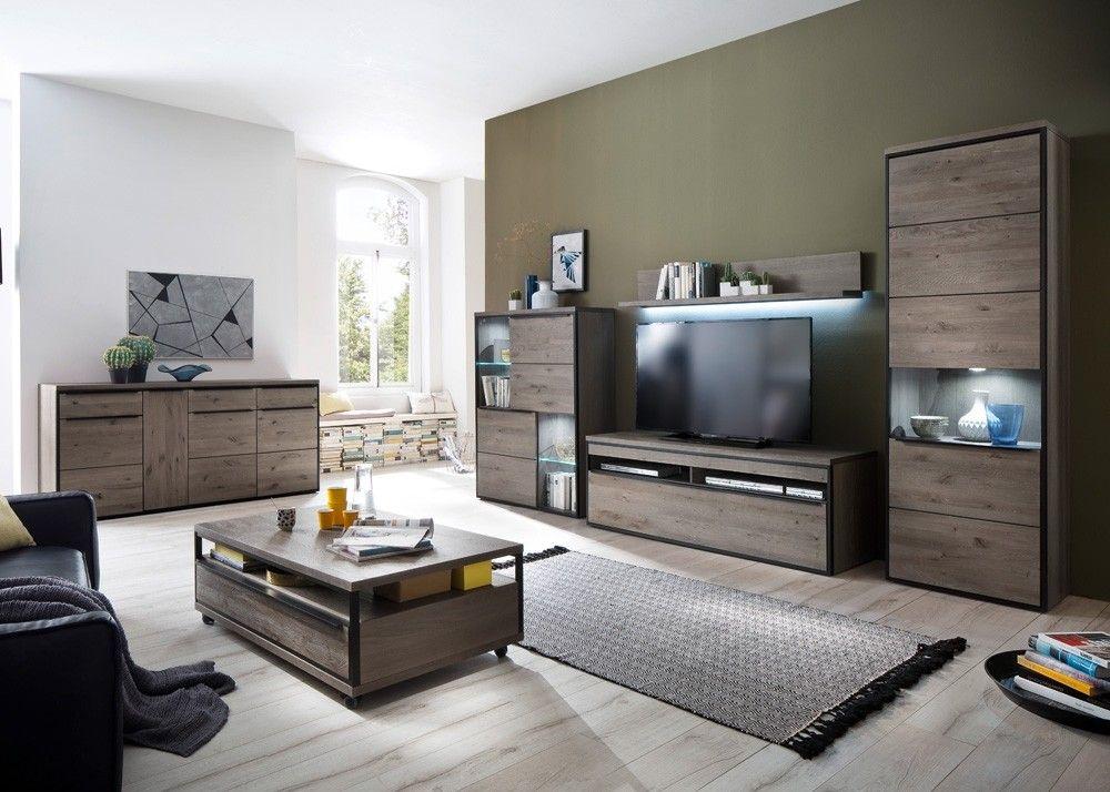 Wohnzimmer Einrichtung ~ Wohnzimmer einrichtung avignon holz teilmassiv eiche stone grau