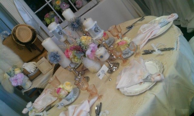 #vintage #glam #tablescape
