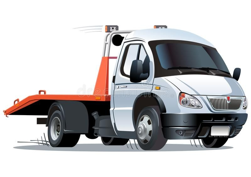 Vector Cartoon Tow Truck Available Ai 10 Format Separated By