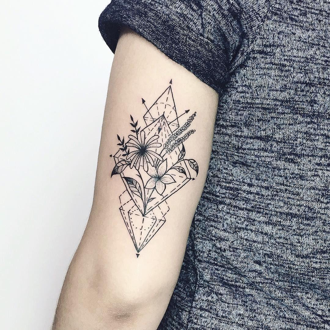 Geometric Flower Tattoo: Geometric Tattoo, Geometric