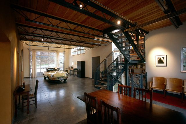 Man Cave Shed Loft : Industrial garage designs to get inspired