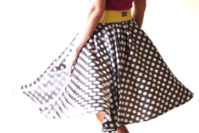 TUTORIAL: the Circle Skirt | MADE I have some stripped jersey fabric that I may attempt a skirt for myself with.