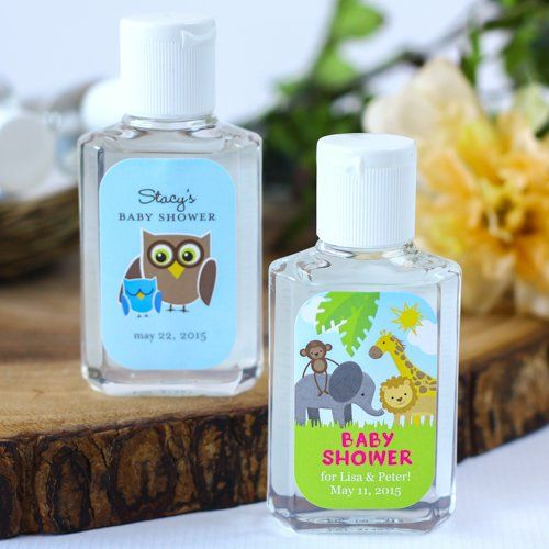 Personalized Baby Shower Hand Sanitizer Girls Baby Shower Baby