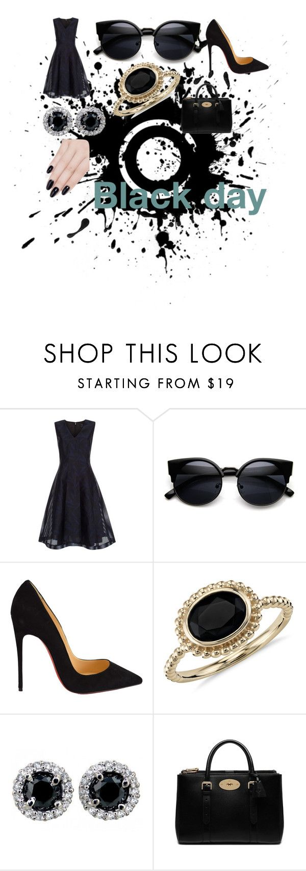 """""""Black day"""" by minions4ever123 on Polyvore featuring Paul Smith, Christian Louboutin, Blue Nile, Mulberry and ncLA"""