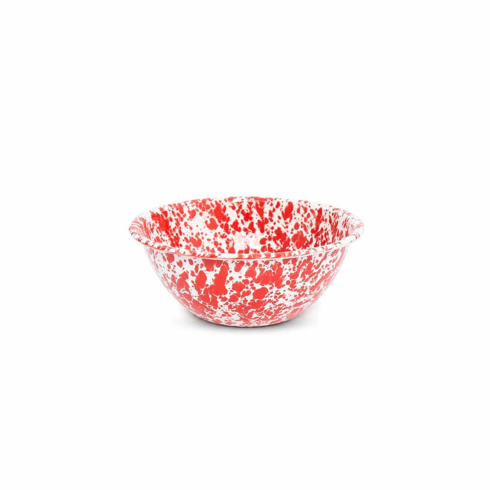 Splatterware Red 2 Quart Small Serving Bowl Lange General Store In 2020 Bowl Serving Bowls Decorative Bowls