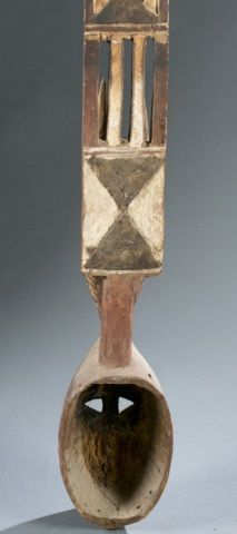 Mossi polychrome plank mask, 20th c.