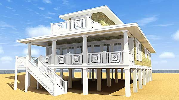 Plan 44091TD Designed for Water Views House, Sitting area and
