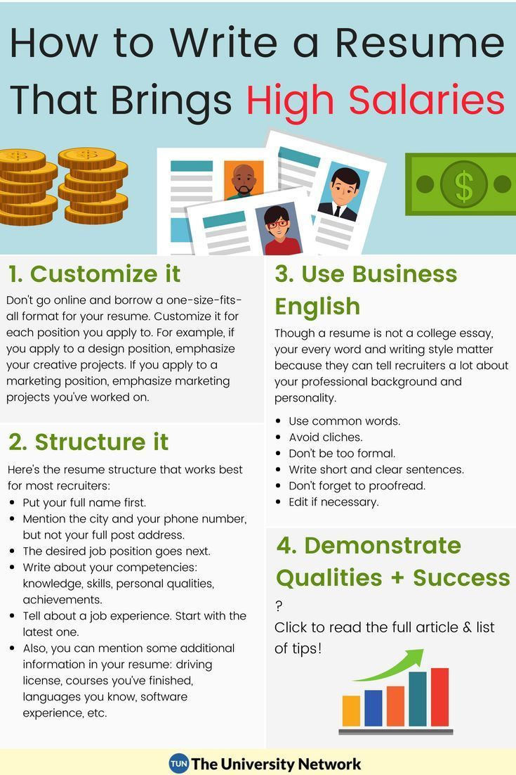 How To Write A Resume Without Job Experience Writing A Resume That Brings High Salaries  Blog Writing Career .