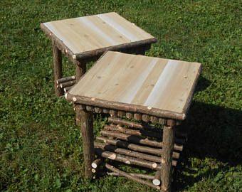 2) Twig Stands,Small Space Furniture,Maine Made 12 x 12 x 24 #twigfurniture