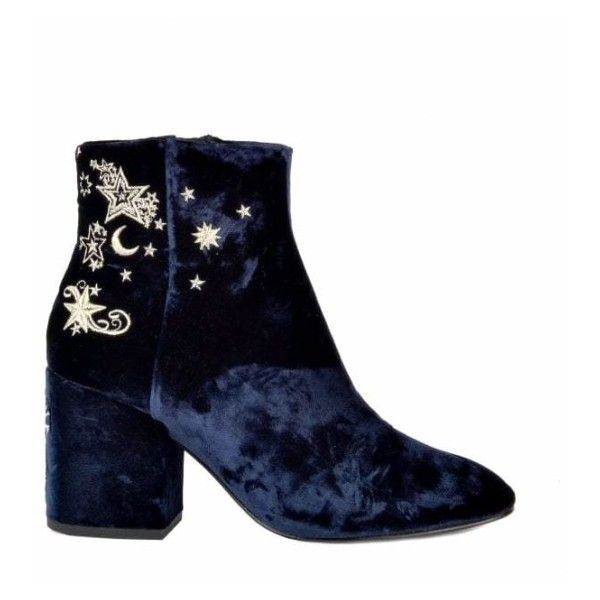 5eb7bef1ed0 Elixir Embroidered Velvet Boots In Midnight ( 260) ❤ liked on ...