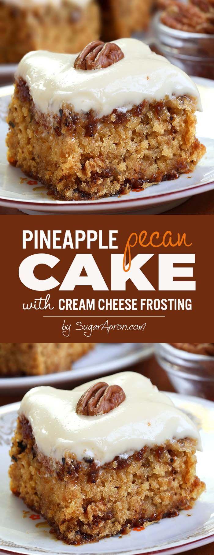 Pineapple Pecan Cake - Sugar Apron