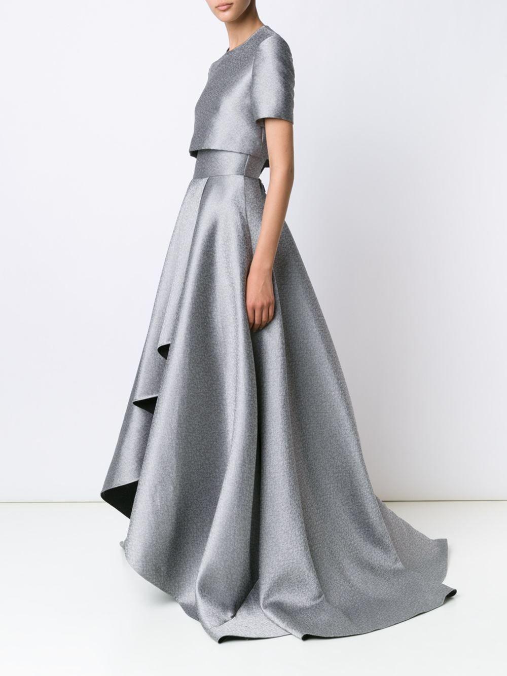 Jason Wu vestido de fiesta drapeado y metalizado