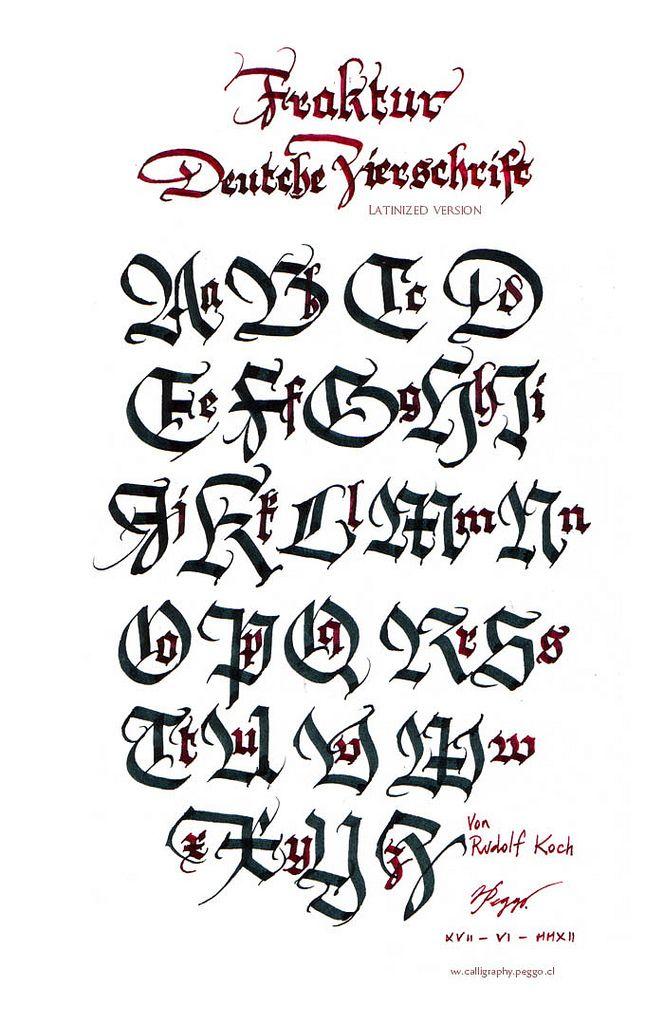 Deutsche Zierschrift Fraktur (study) Calligraphy, Fonts and Typography - new friendly letter format in german