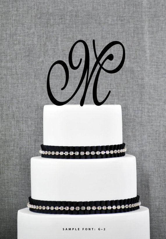 Custom Monogram Initial Cake Topper Letter M Cake Topper Rose Gold