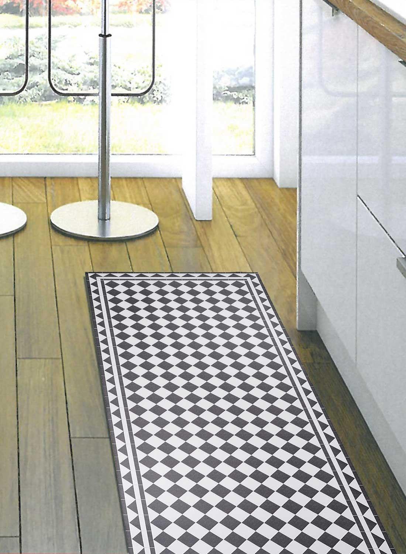Tapis de cuisine VINYLE BARCELONA gris | Tapis cuisine ...