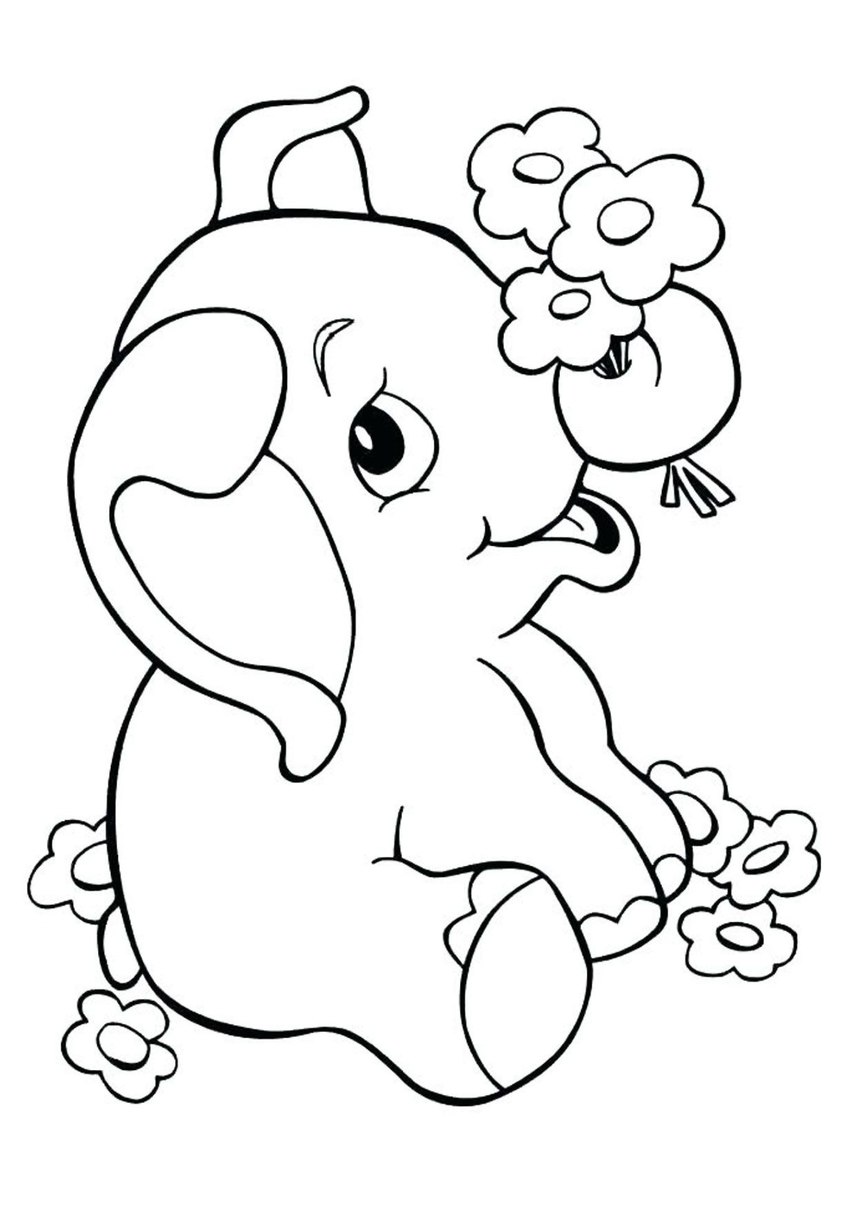 45 Disegni Di Elefanti Da Colorare Disegni Elefante Bambini Da
