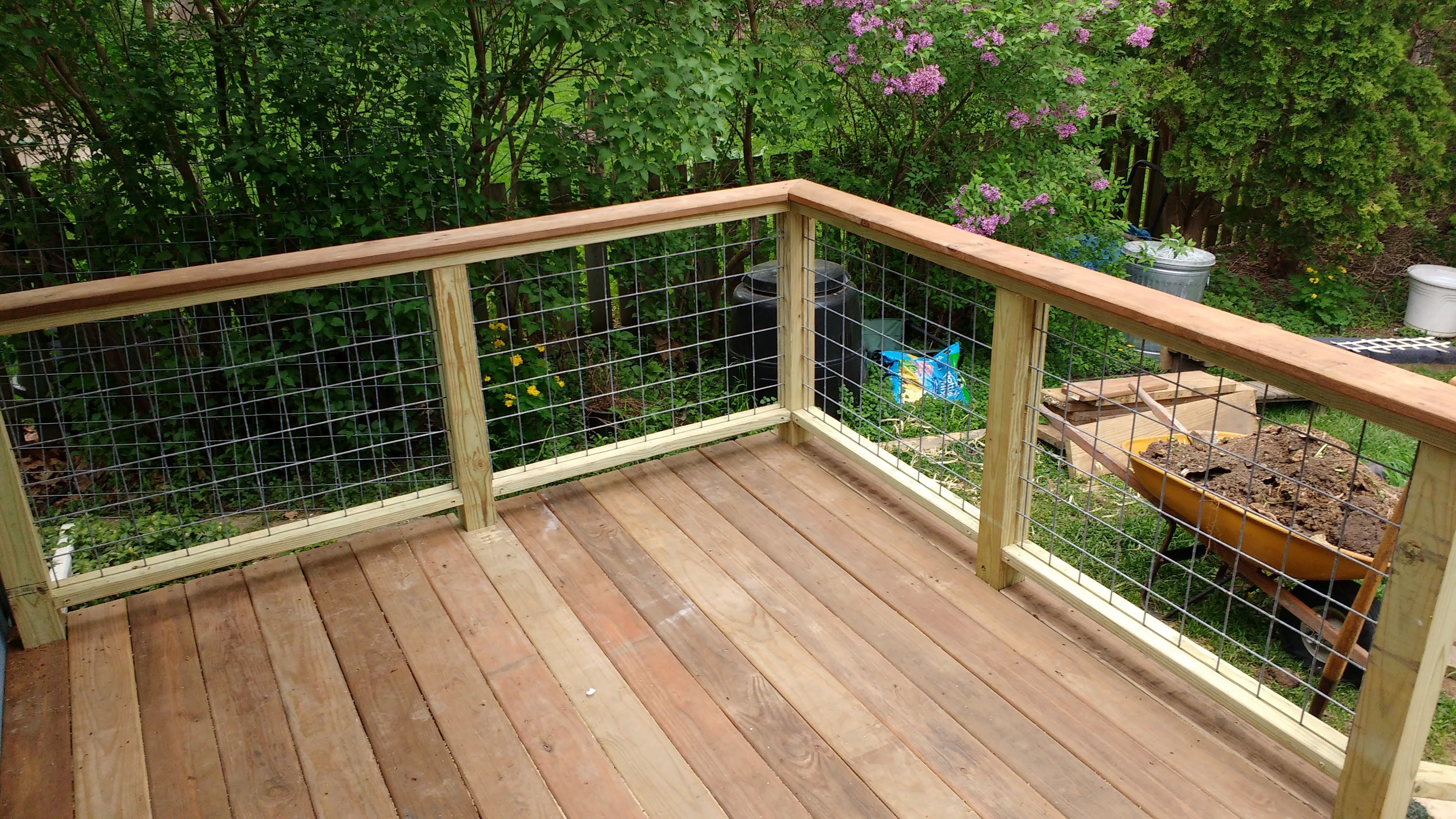 Deck railing made with horse panels. … Pinteres…