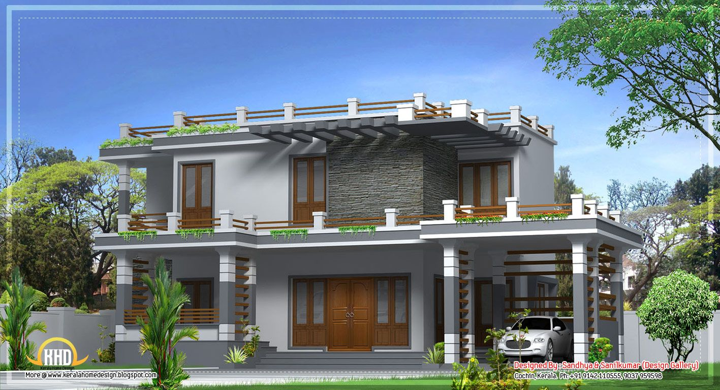 Modern Kerala House Jpg 1417 768 Kerala House Design House Balcony Design Modern House Design